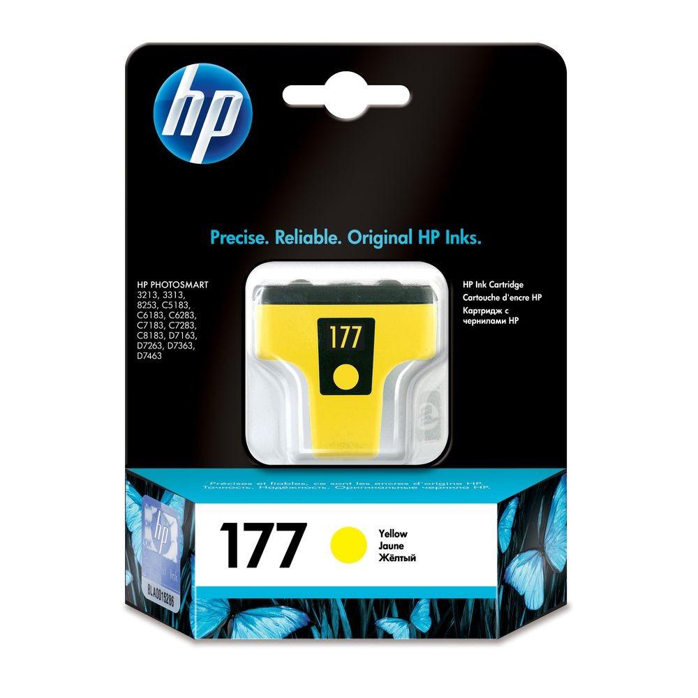 דיו למדפסת HP - דיו 177 HP צהוב C8773HE 8254