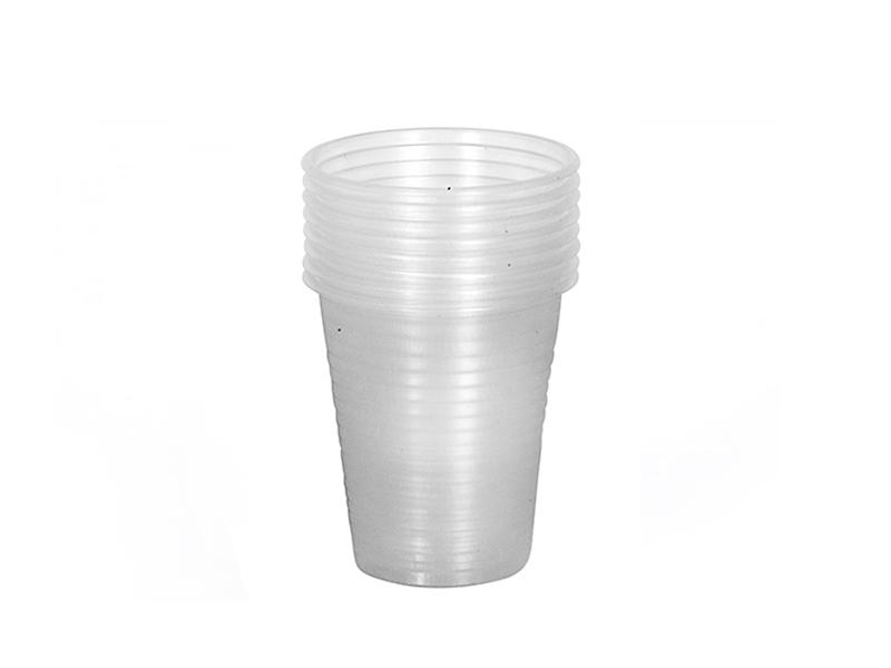 כוס פלסטיק 180 סמק קרטון  3000 יח' לשתיה קרה חדפ