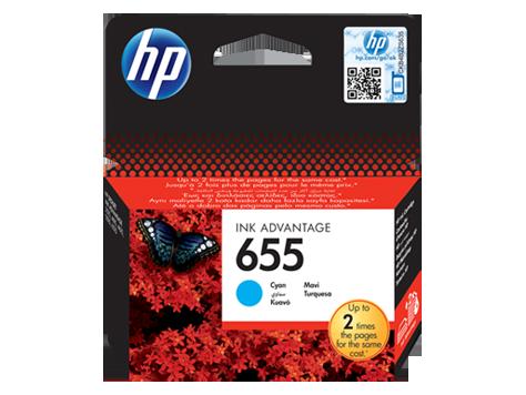דיו למדפסת - 655 HP - ציאן (כחול) CZ110AE 4615/4625