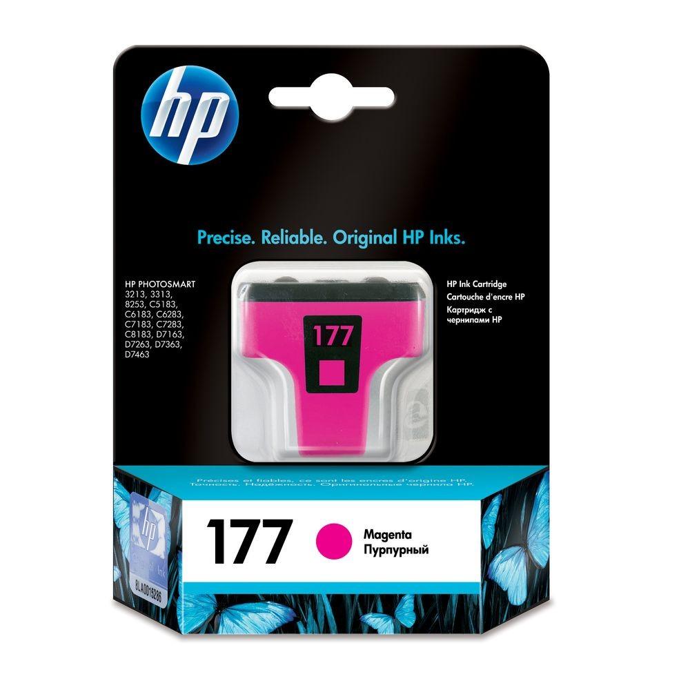 דיו למדפסת HP - דיו 177 HP מגנטה C8772HE 8254