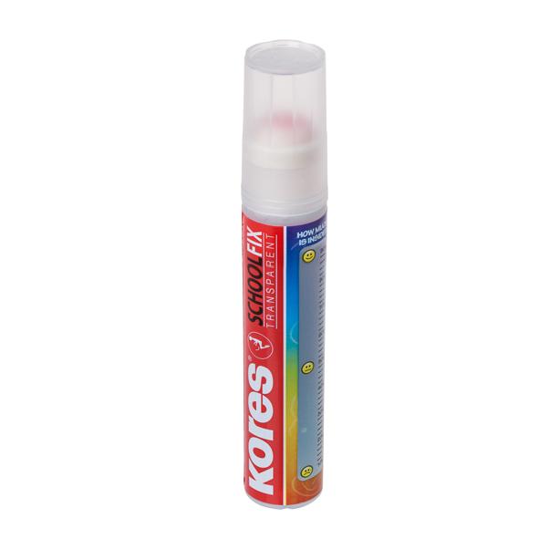 דבק נוזלי שקוף KORES דמוי עט 20 מ' ללא נזילות