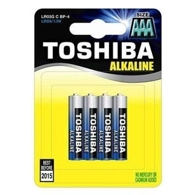 4 סוללות AAA לא נטענות Toshiba Alkaline בבליסטר
