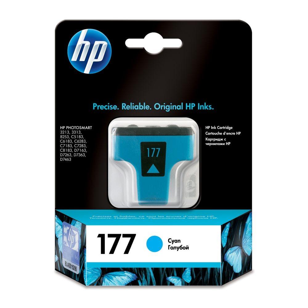 דיו למדפסת HP - דיו 177 HP ציאן (כחול) C8771HE 8254
