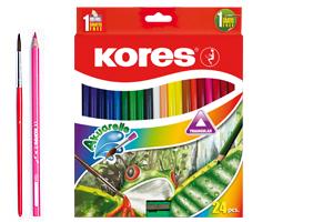 עפרונות צבעוניים - עפרונות אקוורל | צבעי מים - סט 24 יח'
