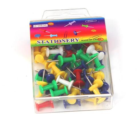 נעצים ניקל/פלסטיק צבעוניים