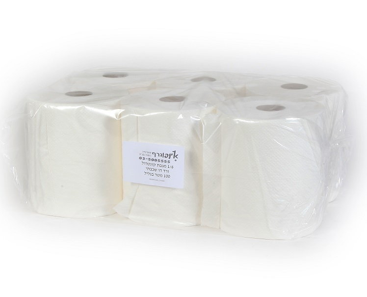 מגבות נייר -טישו דו שכבתי - מגבת קונטרול 100מ' - 6 יח'