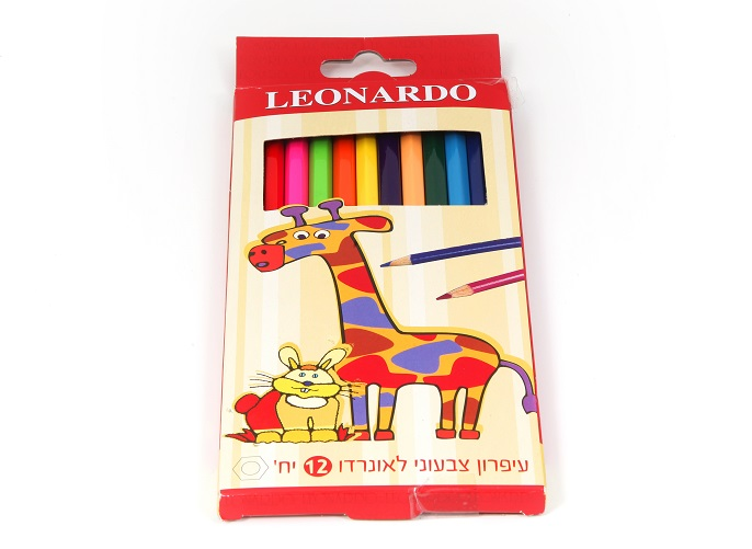 עפרונות צבעוניים לאונרדו 12 יח'
