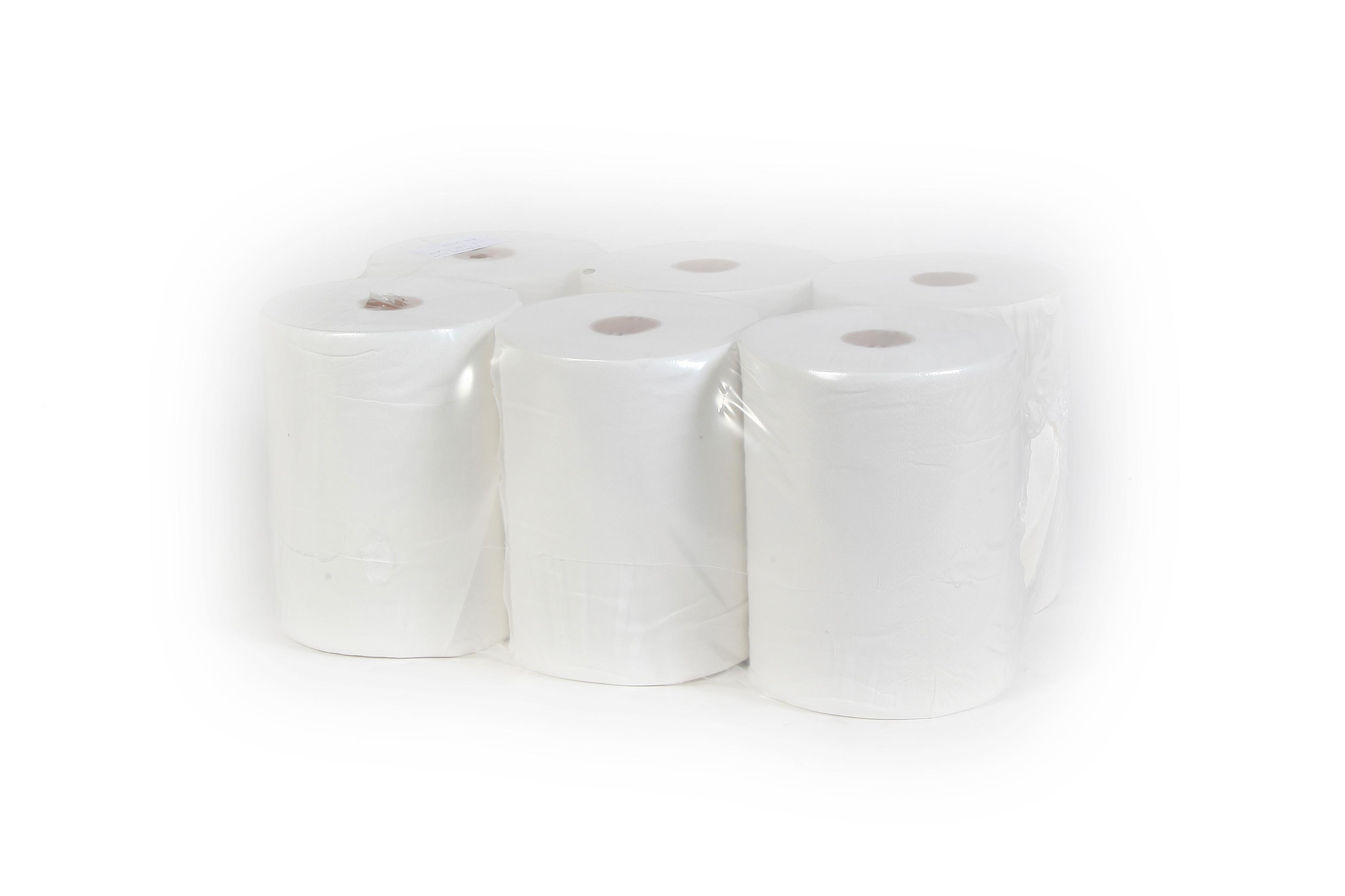 מגבות נייר - מגבת קונטרול 100 מ' חד שכבתי - 6 יח'