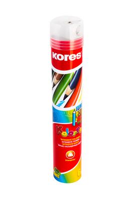 עפרונות צבעוניים ג'מבו בקלמר+מחדד סט 6 צבעים