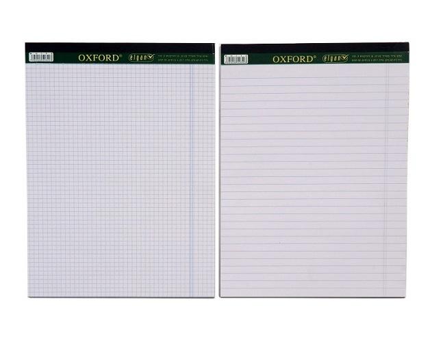 בלוק כתיבה לבן 50 דף, A4 / A5