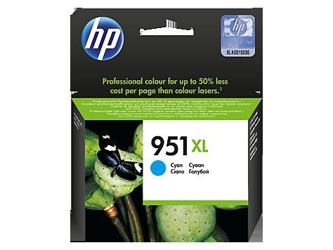 דיו למדפסת - 951XL HP מקורי- ציאן (כחול) CN046AE Pro-8600