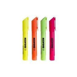 מרקרים - מארז טושים גדולים להדגשה- סט 4 צבעים KORES