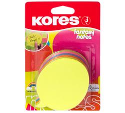 פתקיות ממו נדבקות בצורת בועה 5 צבעי נאון 250 דף KORES