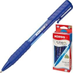 עט כדורי כחול 1 מ'מ*12יח'  M-K6 לחצן גריפ KORES