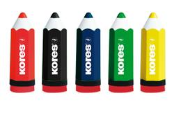מחדד KORES מעוצב בצורת עיפרון עם מיכל איסוף