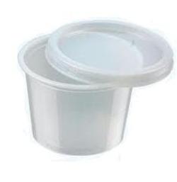 גביע למרק 270 סמ'ק P.P שקוף+מכסה 450 יח