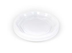 צלחות חד פעמיות לבנות קטנות, גודל '7, 50 יח'