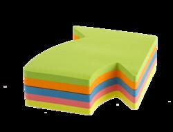 פתקיות דביקות 'חץ'נאון 5 צבעים 250 דף 70*70 KORES