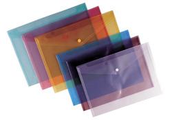 תיקיית פלסטיק מעטפה, סגירת לחצן