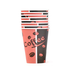 כוסות חד פעמיות - כוס נייר לשתייה חמה OZ-8 בשרוול 50 יח' - 250 מ'ל
