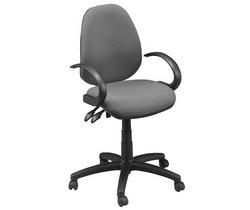 כיסא משרדי | תלמיד - דגם דין דמוי עור + ידיות ברבור