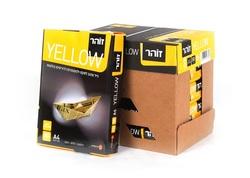 נייר צילום דפי A4 למדפסת -נייר בצבע צהוב זוהר 80 גרם 500 דפים