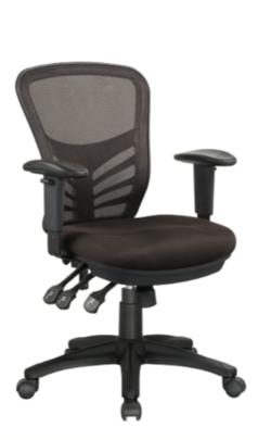 כיסא משרדי מזכירה דגם פרפקט גב רשת