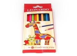 עפרונות צבעוניים 'לאונרדו' 12 יח'