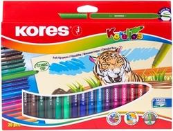 טושים צבעוניים - 20 צבעים לבד KORES