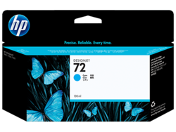 דיו למדפסת HP - מילוי 72 ציאן 130ml מס' C9371A