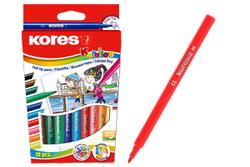 טושים צבעוניים - 10 צבעי לבד  KORES