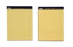 בלוק כתיבה צהוב 50 דף, A4 / A5