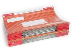 תיקיות קרטון לתלייה עם מתלה פלסטיק כפול
