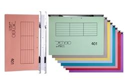 תיקיות קרטון - תיק סופרפייל 401, מתלה מתכת כפול, חלק