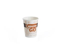 כוסות חד פעמיות - 50 כוסות נייר OZ-6 לשתייה חמה - 175 מ'ל
