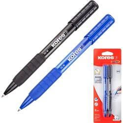 עט כחול+שחור 0.7 K6 לחצן גריפ סט KORES