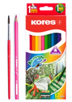 עפרונות צבעוניים - עפרונות אקוורל | צבעי מים - סט 12 יח'